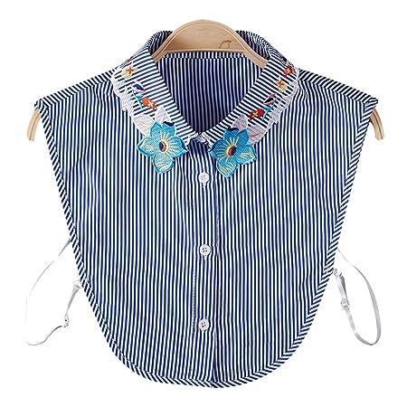 Dabixx - Sudadera para Mujer con Cuello Falso, Desmontable, diseño ...