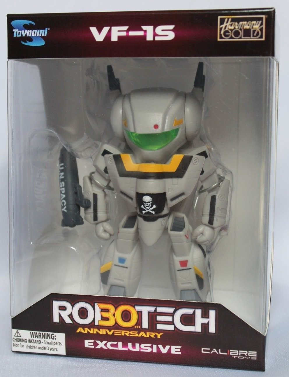 Robotech 2014 SDCC Chibi Skull Leader VF-1S in Military Gray Figure