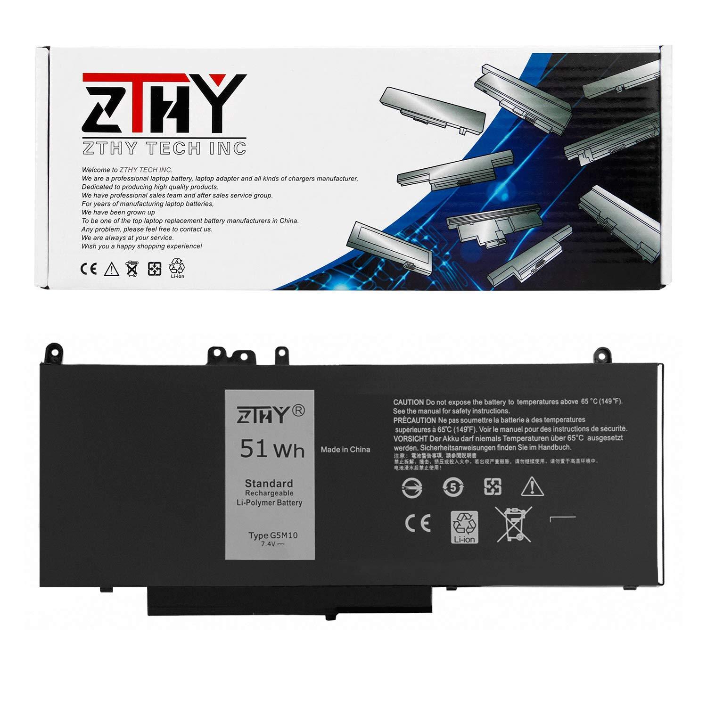 Bateria ZTHY 51WH G5M10 4 celdas Compatibale con Dell Latitude 14 E5450 Latitude 15 E5550 Latitude 12 E5250 para 8V5GX R