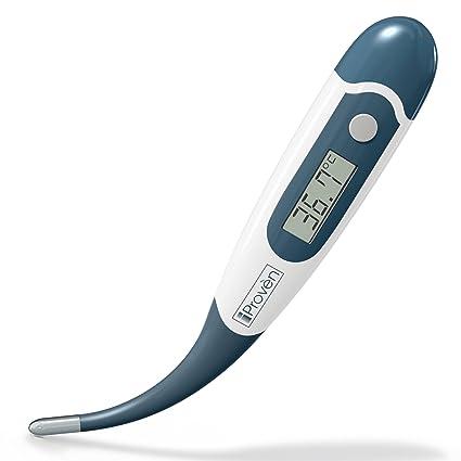El mejor termómetro digital para la medición de temperatura corporal rectangular, oral y axilar,