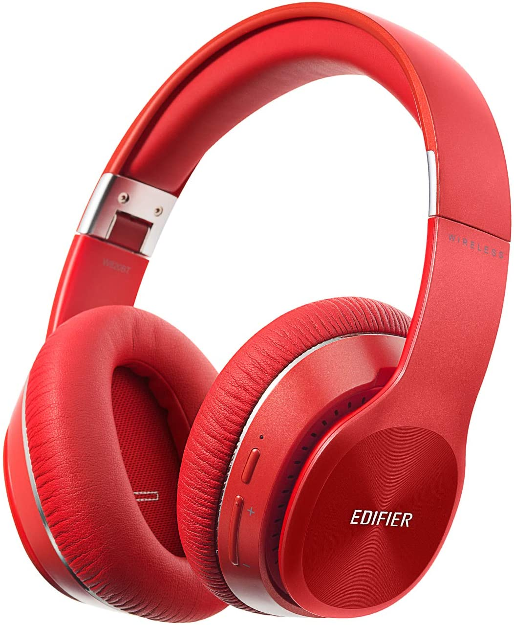 Edifier W820BT Bluetooth Headphones – Foldable Wireless Headphone with 80-Hour Long Battery Life – Red