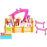 Mattel Polly Pocket CBW74 Horse Friends Playset with 2 Dolls