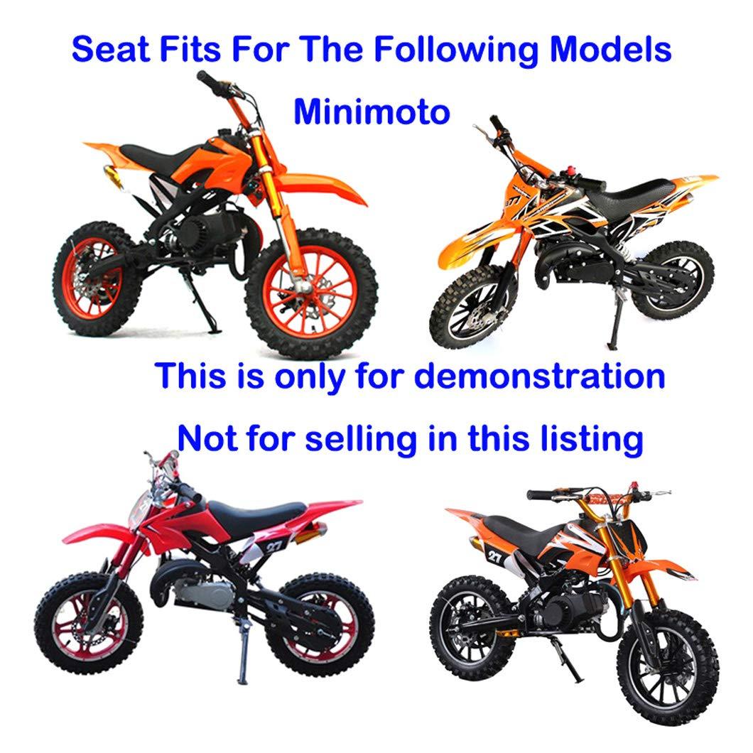 47 cc 49 cc Apollo Kids Mini Dirt Bike XLYZE Asiento de espuma negro para minimoto de 2 tiempos