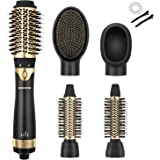 Zeonetak Hot Air Blow Dryer Brush Set 5 in 1 One Step Hair Dryer Styler Volumizer, Negative Ionic Electric Blow Hair…