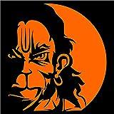 iDesign Orange Center Hanuman Face for Car, Scooters
