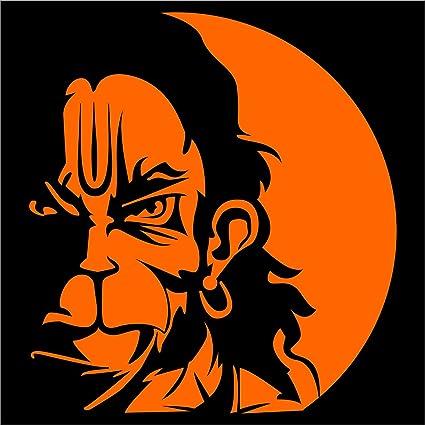 4ec5f8af4 Idesigns Orange Center Hanuman Face For Car