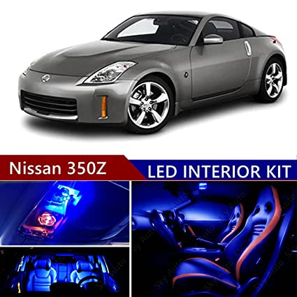 Amazon.com: Nissan 350Z 2003-2008 LED Premium Blue Light Interior Package Kit (9 pcs) : Automotive