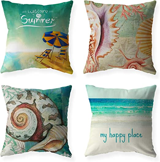 Garden Geometric Cushion Covers Ocean World Seat Pillow Case Bench Home Outdoor