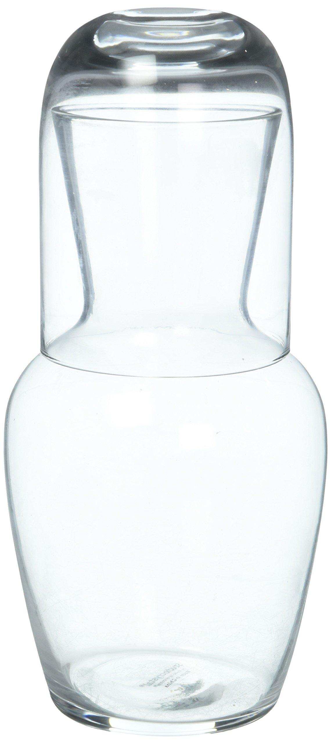 Studio Silversmiths Glass Bedside Water Night Carafe Set
