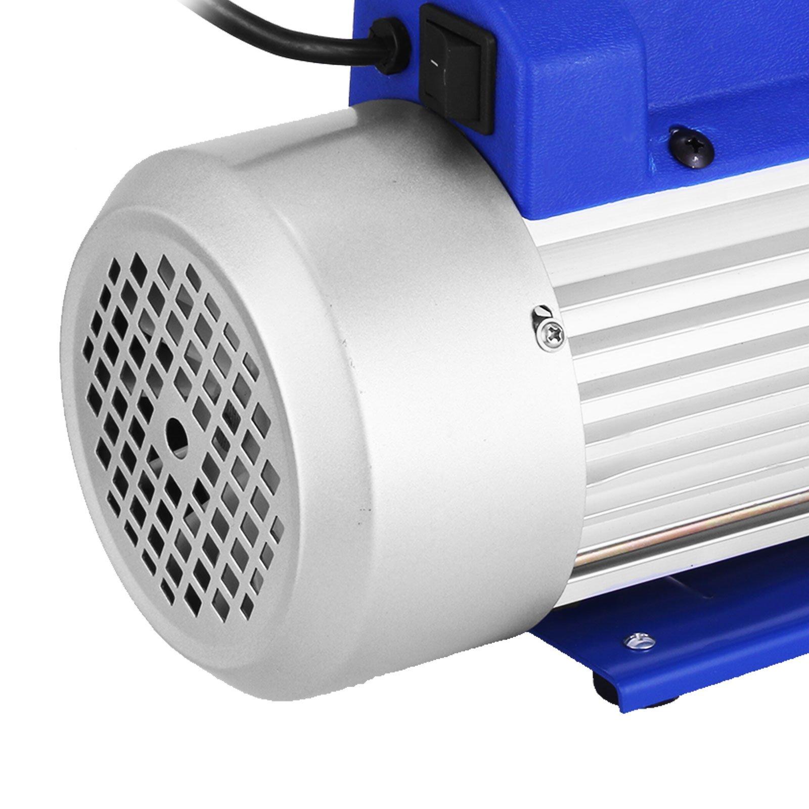 VEVOR Vacuum Pump 9CFM 1HP Two Stage HVAC Rotary Vane Vacuum Pump Wine Degassing Milking Medical Food Processing Air Conditioning Auto AC Refrigerant Vacuum Pump (2-Stage, 9CFM) by VEVOR (Image #7)