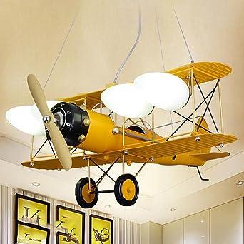 SF- Retro Kinderzimmer Junge Schlafzimmer Lampe Flugzeug Lampe Raum ...