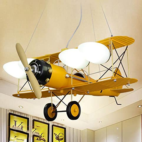 Sf- Retro Kinderzimmer Junge Schlafzimmer Lampe Flugzeug Lampe