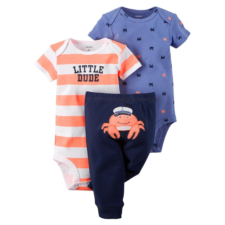 796761000 Carter's Baby Boys' 3-Piece Bodysuit & Pant Set