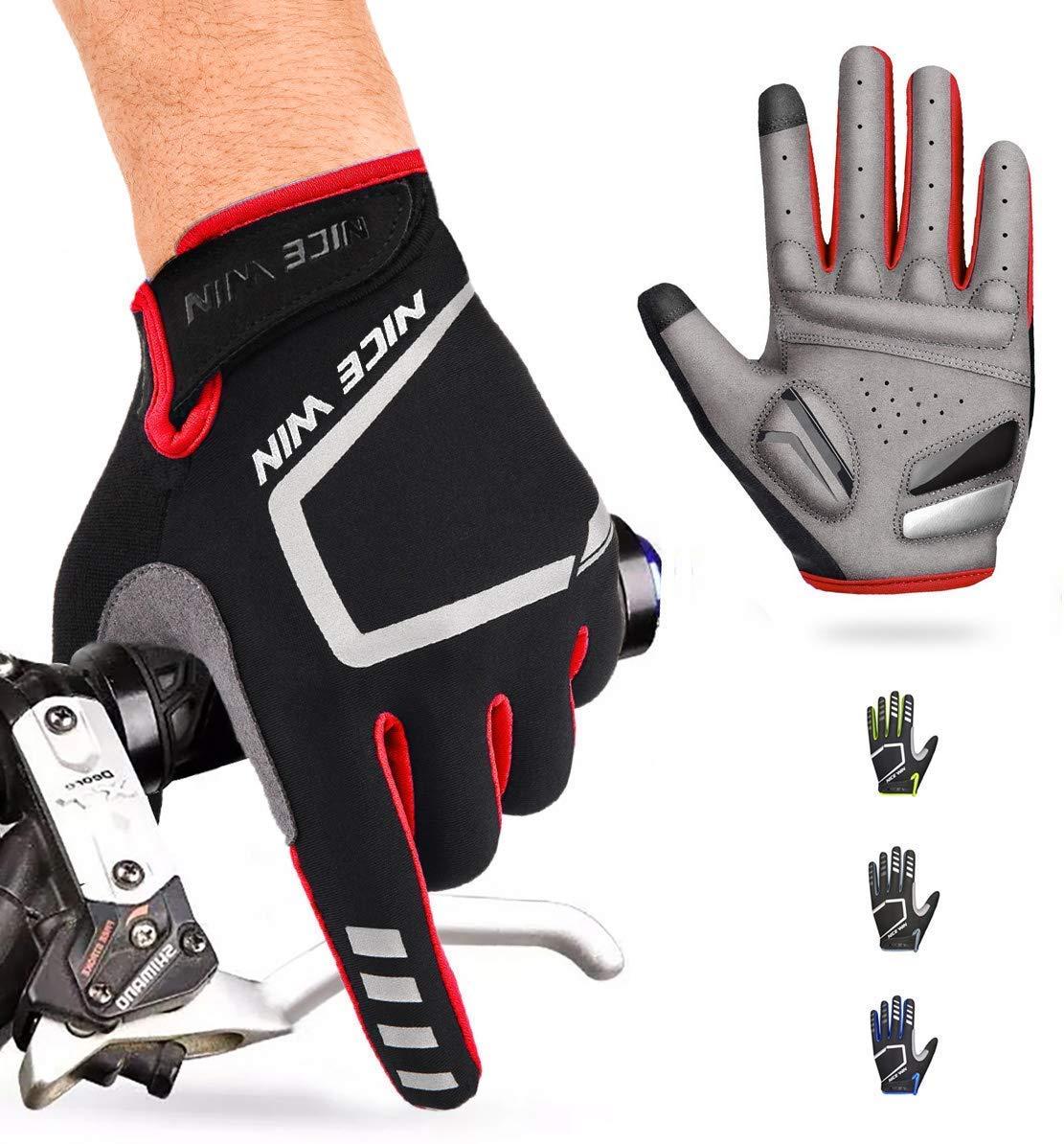 NICEWIN Winter Cycling Gloves Motorcycle Bike Windproof Waterproof Mountain Road Bicycle Glove Men Women Padded Antiskid Touch Screen Design