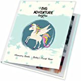 First Year Baby Memory Book. Keepsake Journal, Unisex Photo Album & Scrapbook + 12 Monthly Stickers for Boy & Girl. Perfect Shower Gift For New parents