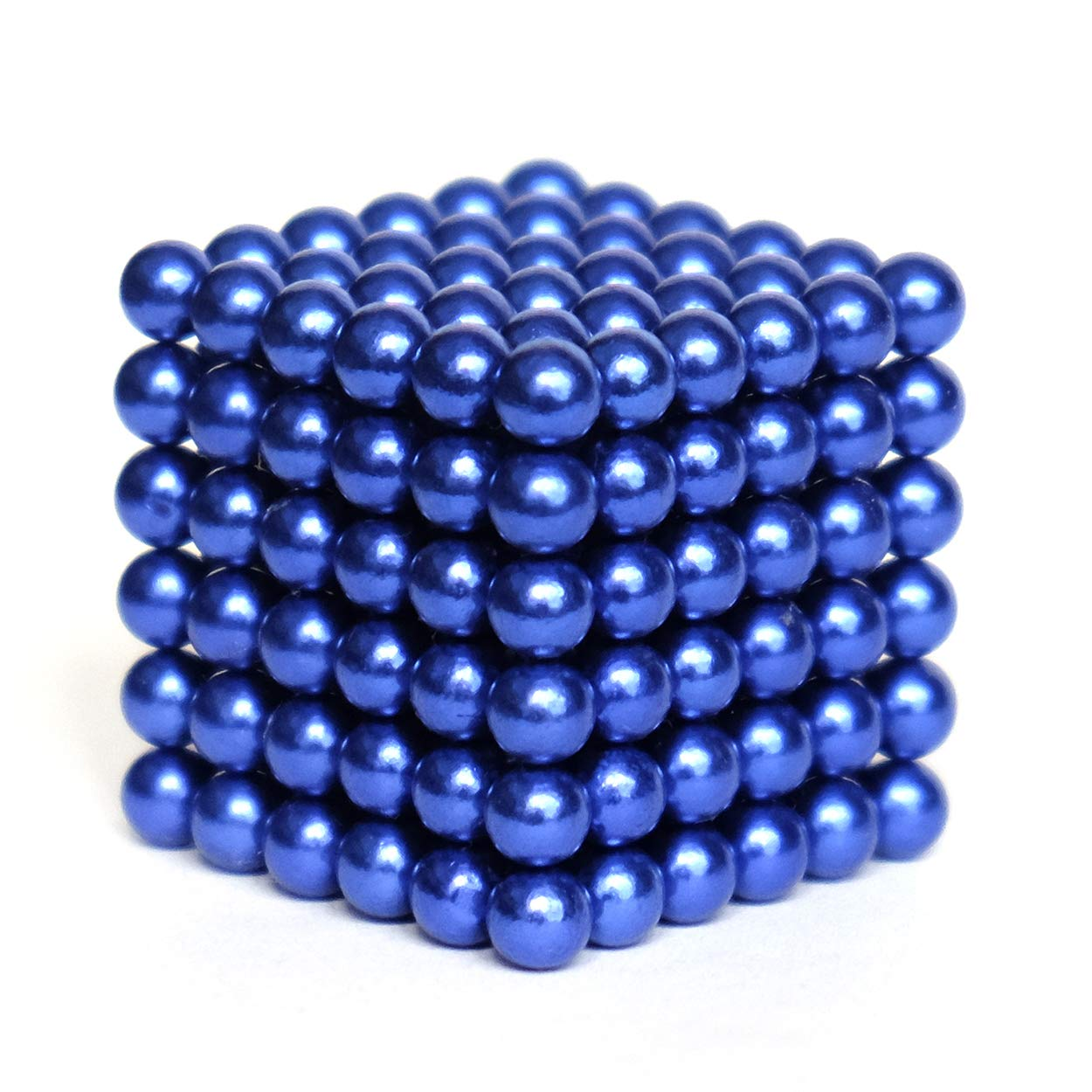 aBrilliantLife 5MM 216 Pieces BallsToys Sculpture Building Blocks Fidget Cube Stem Gift for Intellectual Development Office Toy Stress Relief Gift for Teens and Adult -Blue