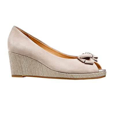 1fb4e4a06e Van Dal Shoes Womens Unity Wedges in Nougat Suede  Amazon.co.uk  Shoes    Bags