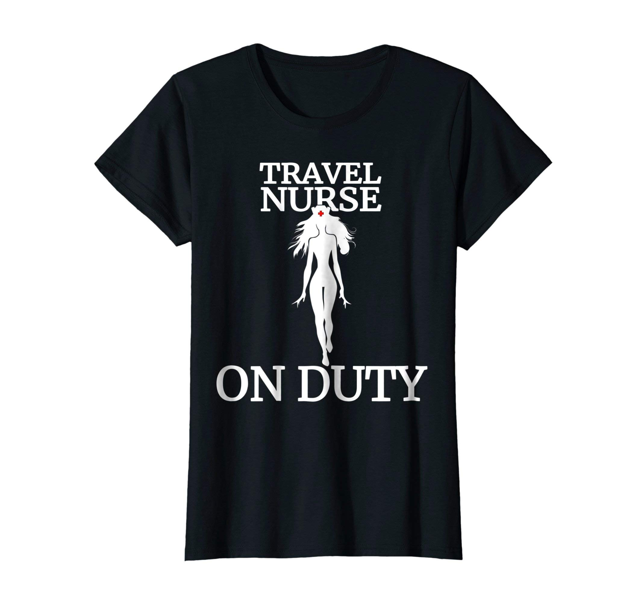 Womens Travel Nurse Hero T-Shirt | Medical Costume | Health Care |