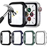 ZEBRE 4-Pack Screen Protector Compatible with Apple Watch SE/Series 6 / Series 5 / Series 4 44mm, Hard PC Tempered Glass Prot