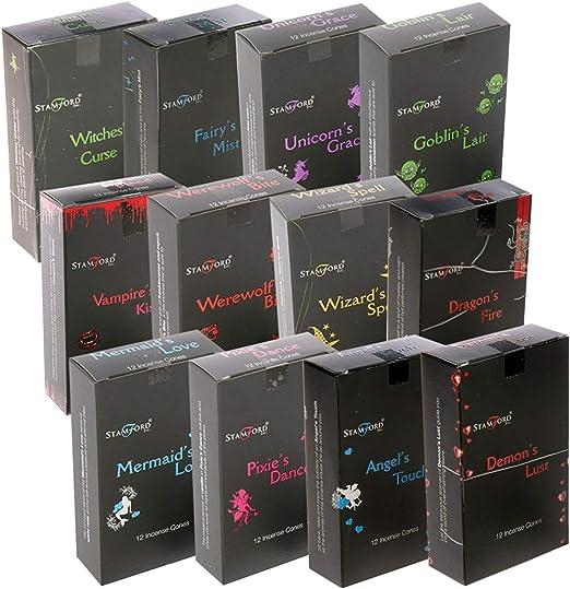 Stamford: 144 conos de incienso color negro (12 cajas de 12 conos ...