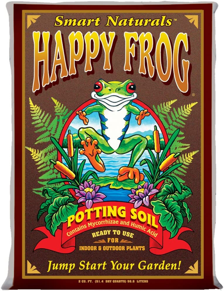 FoxFarm FX14081 Happy Frog, 2 Cubic Feet Potting Soil, Brown