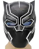 Noir Masque Costume Deluxe Halloween Adultes Souple en Résine Pleine Cosplay Head Helmet