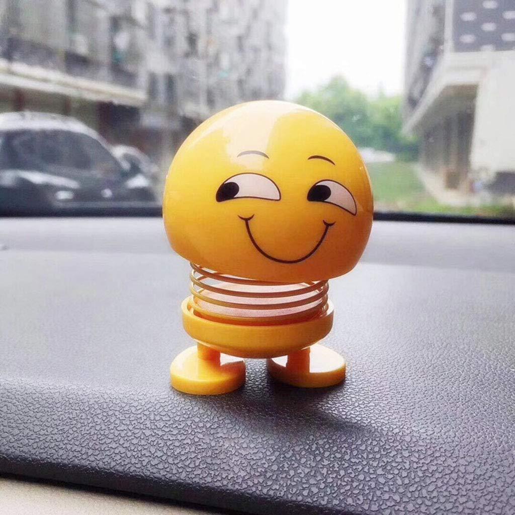 huyiko Car Ornements Emoji Shaker Sourire Secouant La T/ête Poup/ée Jouet Mignon Auto Int/érieur De D/écoration De Voiture Accessoires