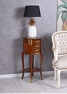 Kommode Barock Nachtkommode Nachtkonsole Nachttisch Intarsien Wandtisch Antik