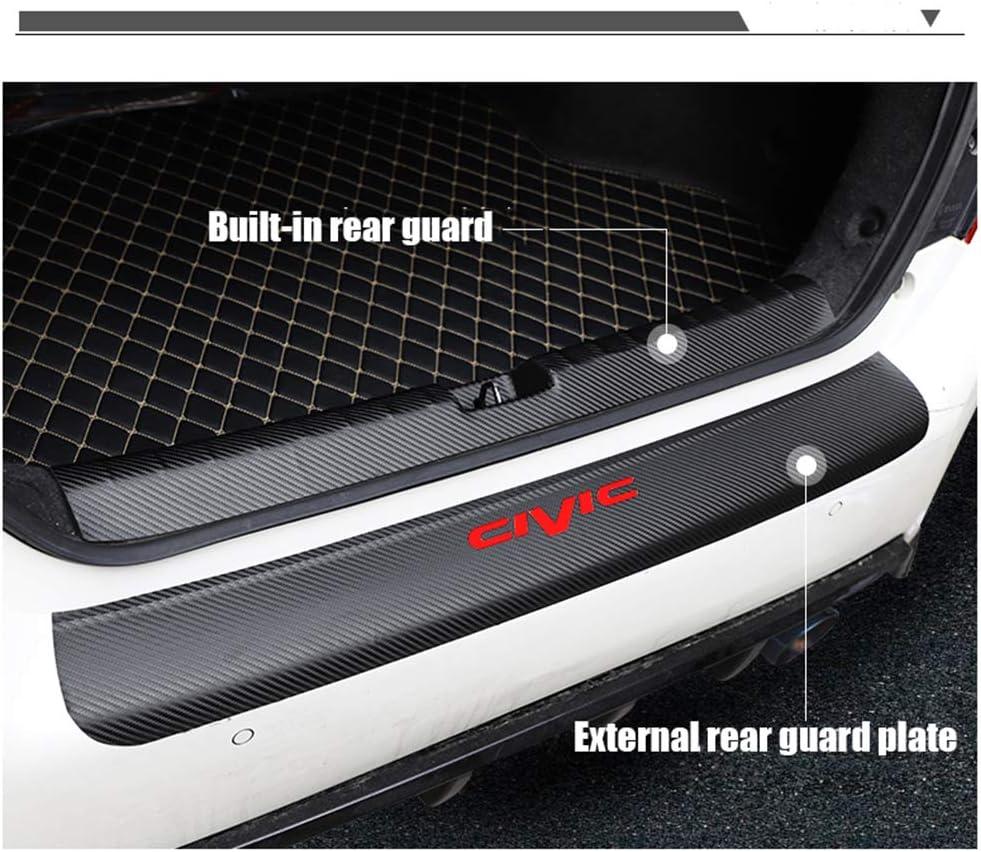 YXSMTB 4D carbon fiber car door sill anti-scratch protector pedal for Honda Civic 2018 2019