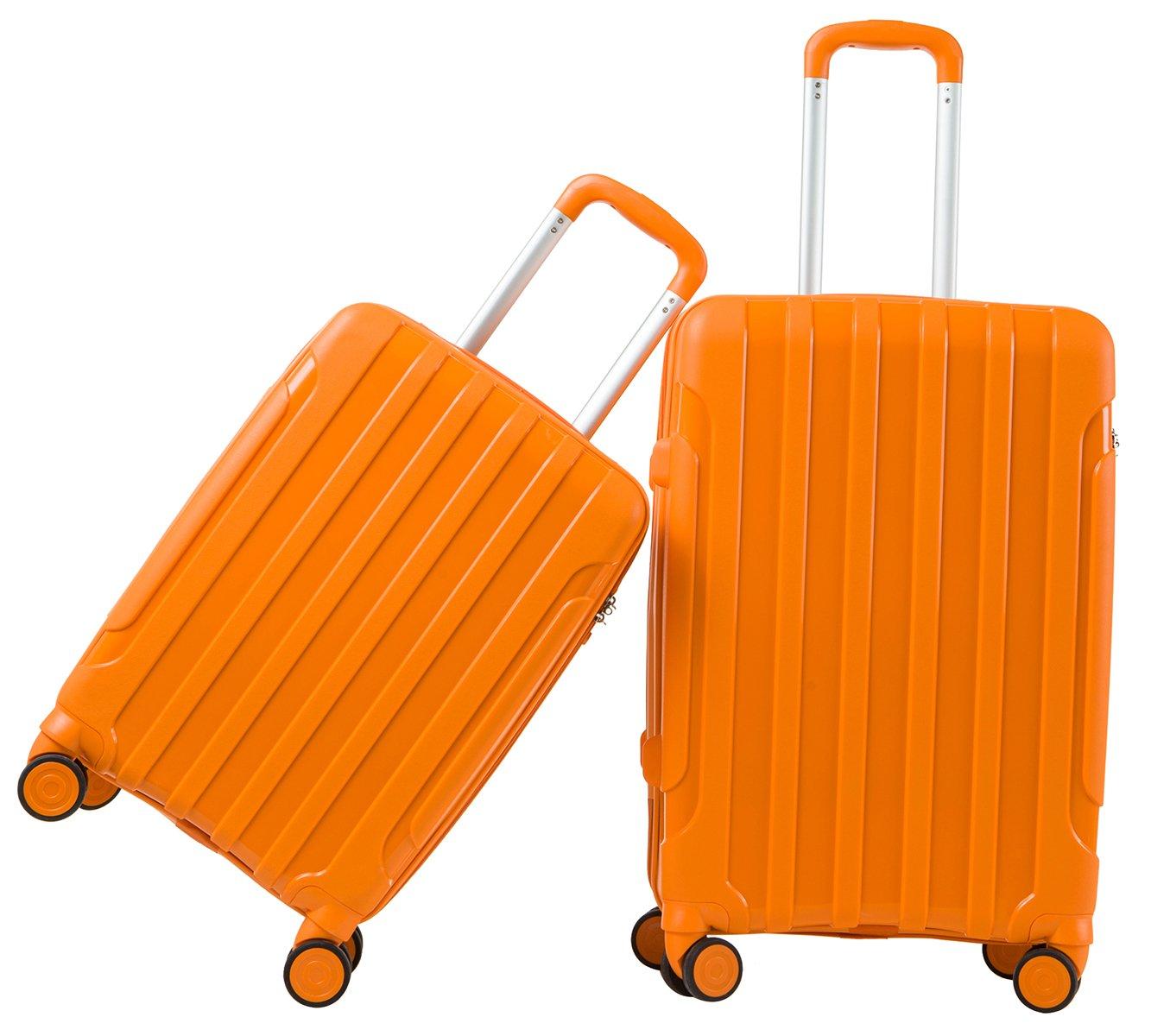 LGO Travel Luggage Sets 2PCS Suitcases Set TSA Lock Spinner Wheels Lightweight 20''24''