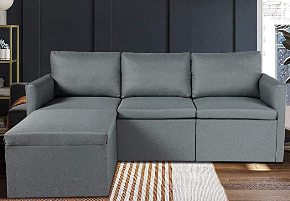 Best living room sofa: JOVNO Convertible Sectional Sofa Couch