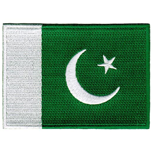 85ae86897f Image Unavailable. Image not available for. Color: Pakistan Flag  Embroidered Patch Pakistani ...
