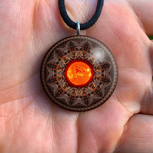 Light Orange irregular shape gemstone pendant Stripey pendant Semi-precious Focal Bead Sardonyx pendant