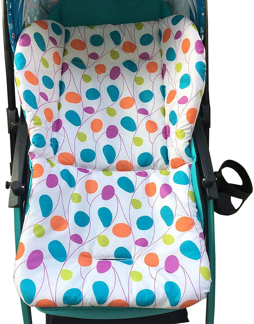 YUENA CARE Colchoneta para Silla de Paseo Trona Cochecito Universal de Beb/és Ni/ños Coj/ín Reductor Infantil de Algod/ón Puro C/ómodo para Beb/és Bicicleta