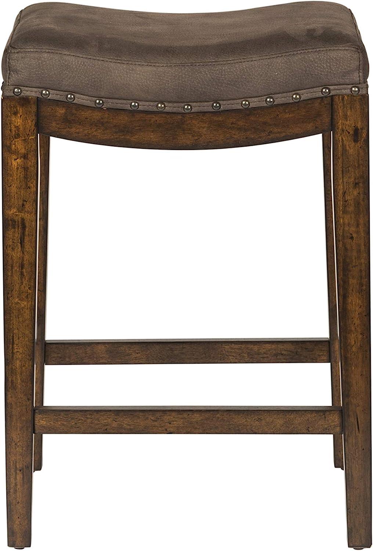 Liberty Furniture Industries Aspen Skies Upholstered Console Stool, W18 x D15 x H26, Medium Brown