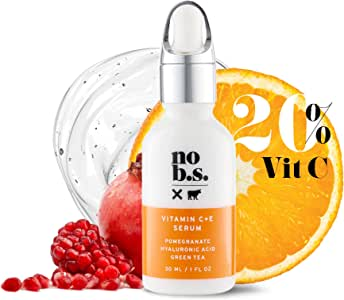 NO B. S. NO BAD STUFF Vitamin C Serum For Face - Potent & Clean Skin Care. No Hype. No Fads. Pure C + E With Hyaluronic Acid Serum. (Full Size)