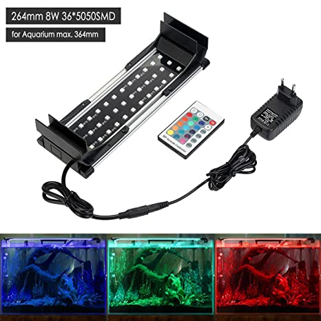GreenSun Luz LED Acuario 5050 SMD RGB, Pantalla LED Acuario, Iluminación LED para Acuarios