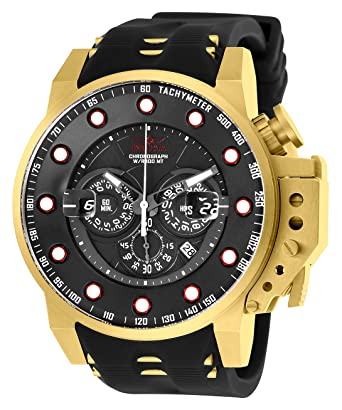 c13b03382 Amazon.com: Invicta Men's I- I-Force Stainless Steel Quartz Silicone Strap,  Black, 26 Casual Watch (Model: 25272): Watches