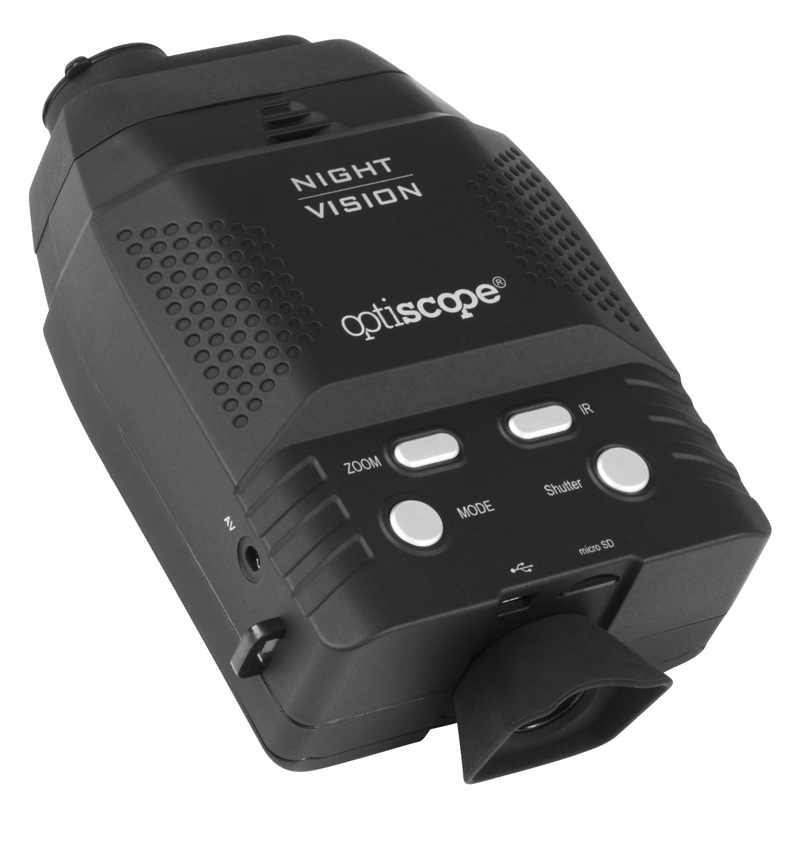Premium Night Vision Monocular By OPTISCOPE - 328ft/100m Infrared Illuminator Range - 3x Magnification - Ideal For Surveillance & Observation - Easy Image & Video Capture - 4GB microSD - Black by OPTISCOPE