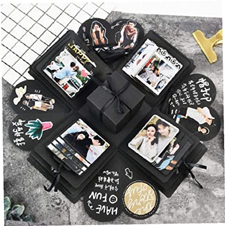 Surprise DIY Bomb Explosion Box Memory Scrapbook Photo Album Anniversary GIFT US