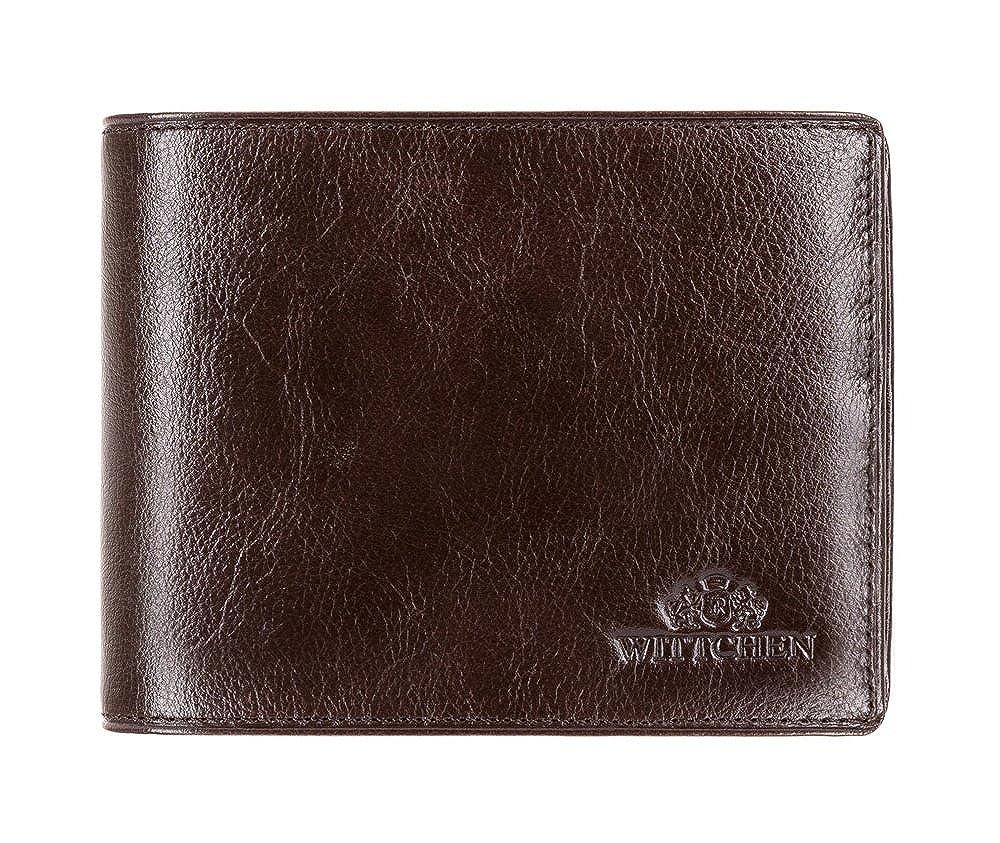 Wittchen Geldbörse/Geldbeutel Narbenleder   Elegant Ledergeldbörse etui   12x9 cm