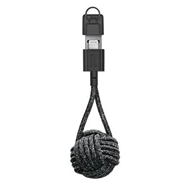 Native Union Key Cable - Ultra-Strong Reinforced [Apple MFi Certified] Durable Lightning to USB Charging Cable with Key Fob for iPhone/iPad (Cosmos)