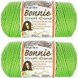2 包 Bonnie Macramé 线 - 4 毫米 - 100 码长 - 各种颜色 莱姆绿 2PK-BNC4MM-LIME-~CRAFT_TS62818