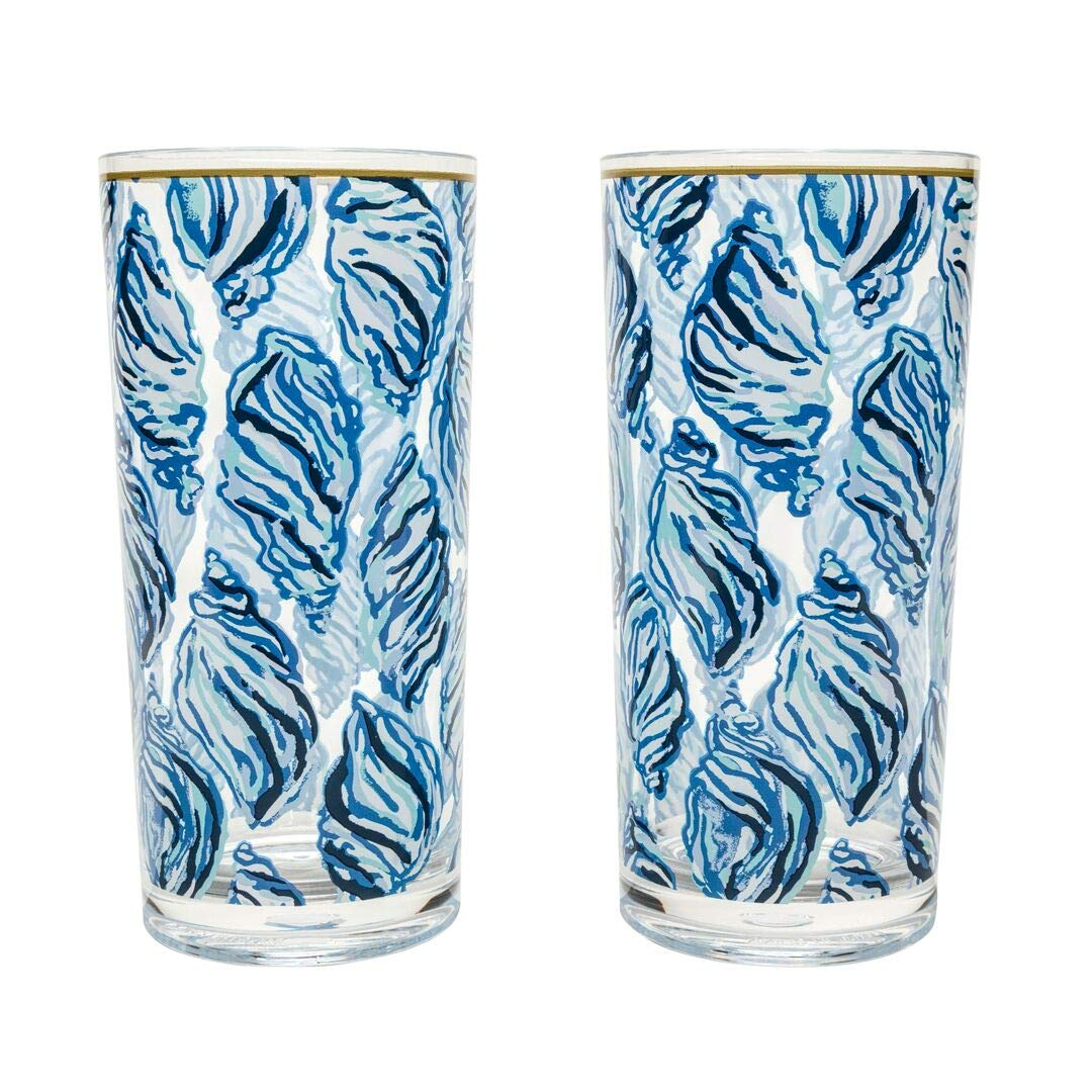 Amazon com lilly pulitzer hi ball glass drop in highball glasses