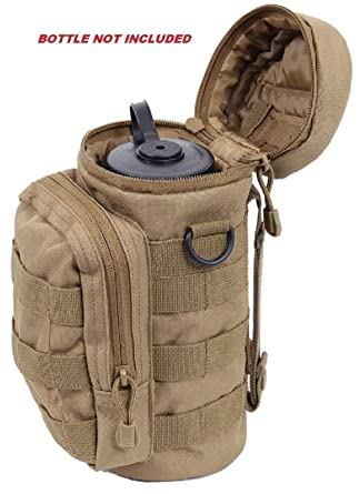 Amazon.com  Coyote Brown Military Molle Tactical Travel Water Bottle ... 1f1f323328