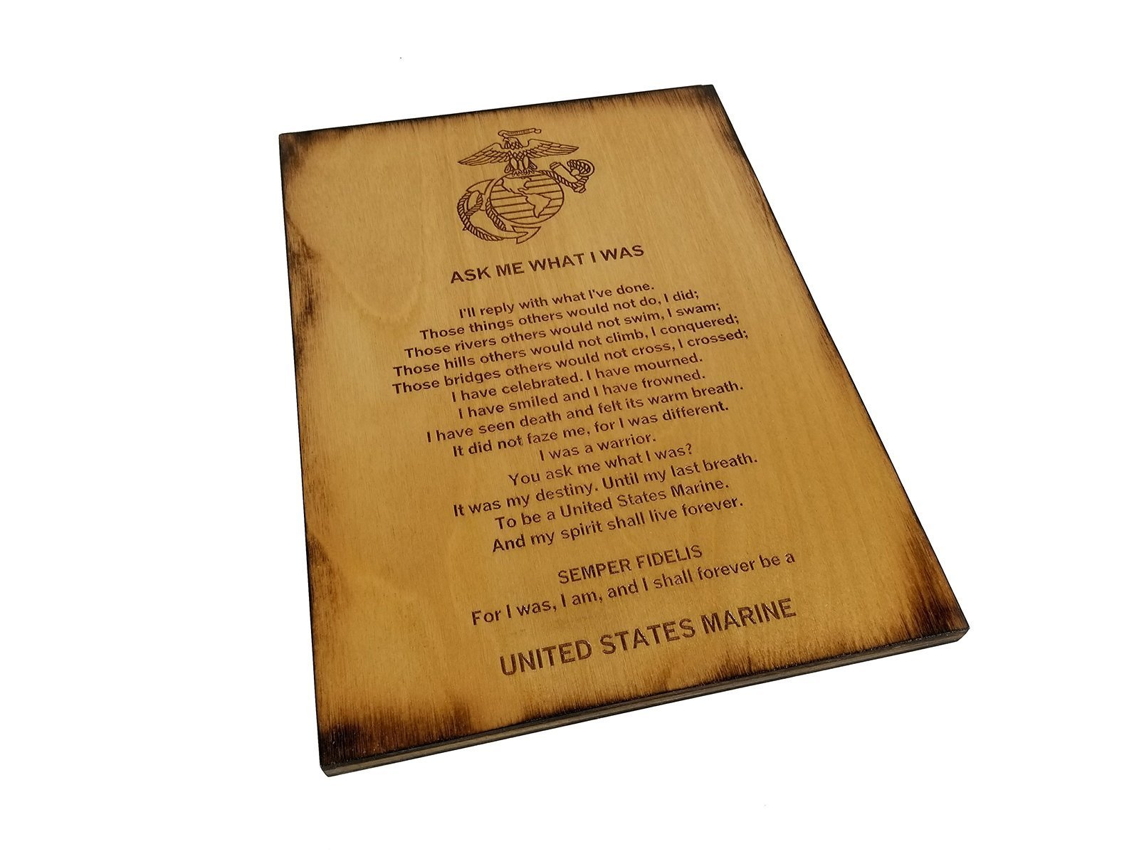 Marine Retirement Gift - Ask Me What I Was 8.5 x 11.5 USMC Sign
