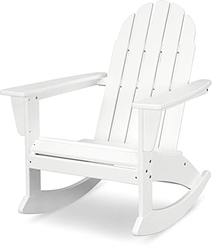 POLYWOOD Vineyard Adirondack Rocking Chair White