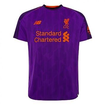 7cfea9681 New Balance Boys  LFC Away Junior Short Sleeve Jersey