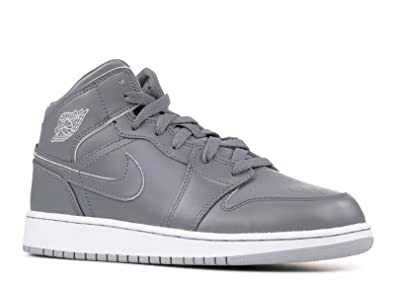 1dd37a4e2b Nike Jordan Kids Air Jordan 1 Mid Bg Cool Grey/White/Wolf Grey Basketball