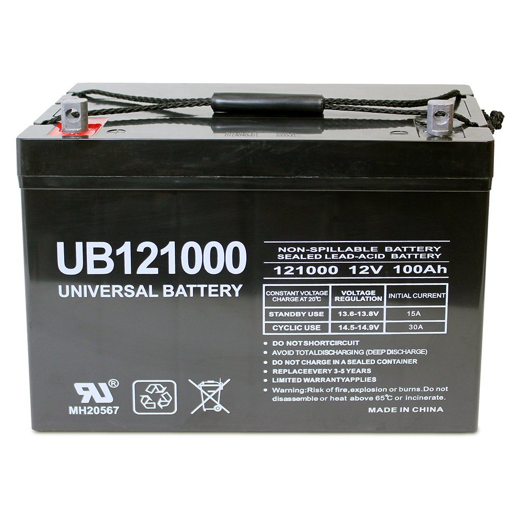 12V 100Ah Battery for Minn Kota, Minnkota, Cobra, Sevylor other trolling motor by Universal Power Group